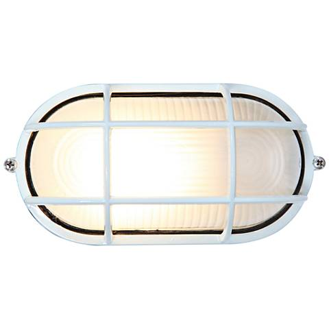 """Nauticus 4 1/4"""" High White LED Outdoor Wall Light"""