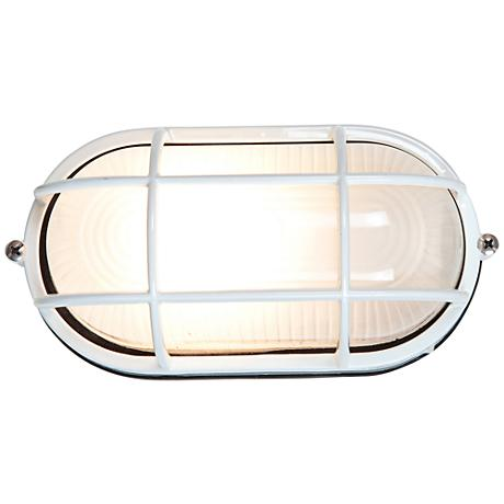 """Nauticus 6 1/2"""" High White LED Outdoor Wall Light"""