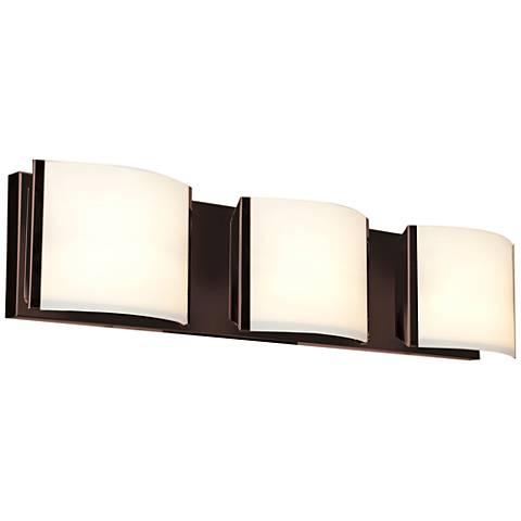"Nitro 25 1/4"" Wide Bronze 3-LED Bath Light"