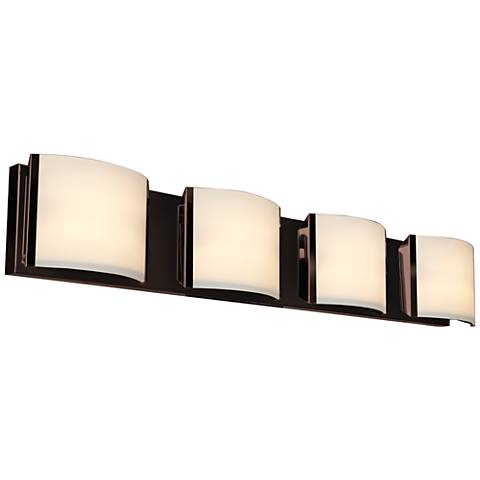 "Nitro 34 1/4"" Wide Bronze 4-LED Bath Light"