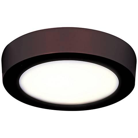 "Strike 9 1/2"" Wide Round Bronze LED Ceiling Light"