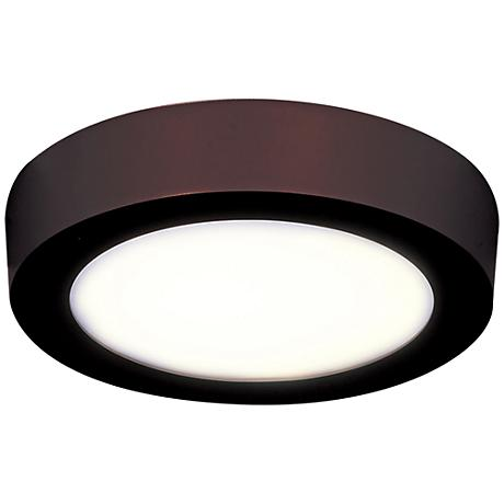 "Strike 9 1/2"" Wide Round Bronze LED Ceiling Light"