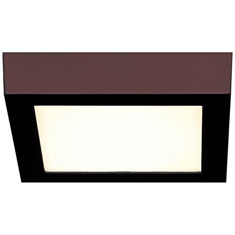"Strike 9 1/2"" Wide Square Bronze LED Ceiling Light"