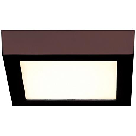 "Strike 7"" Wide Square Bronze LED Ceiling Light"