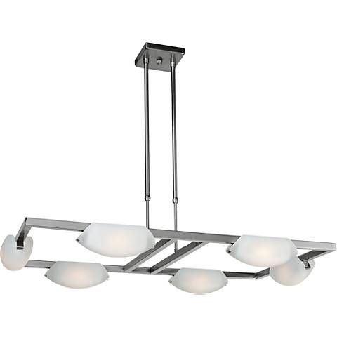 "Nido 29 1/4""W Matte Chrome LED Chandelier"