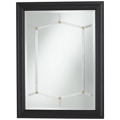 "Matte Black 30"" x 40"" Wall Mirror"