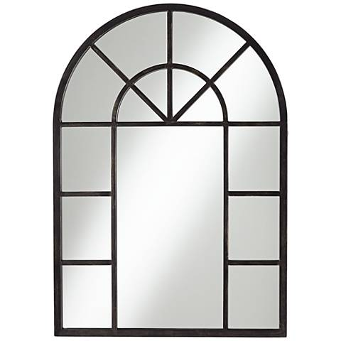 "Palladian Antique Black 29"" x 41"" Wall Mirror"