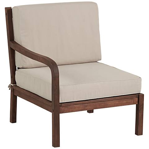 Sonoma Dark Natural Acacia Wood Left-Arm Chair