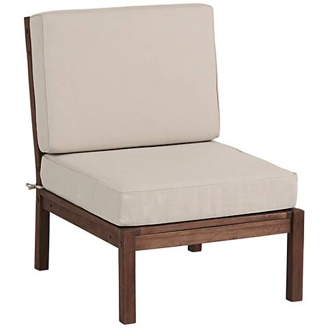 Sonoma Dark Natural Acacia Wood Armless Chair