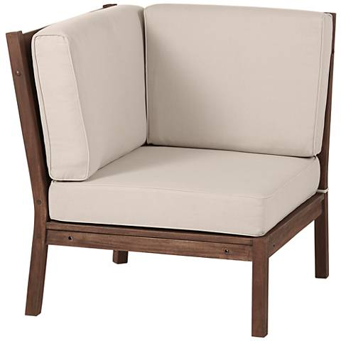 Sonoma Dark Natural Acacia Wood Corner Chair