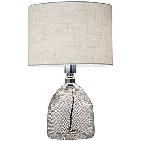 "Sparrow Shiny Chrome Metal 18 3/4""H  Accent Table Lamp"