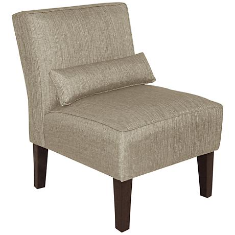 Metropol Groupie Pewter Fabric Slipper Chair