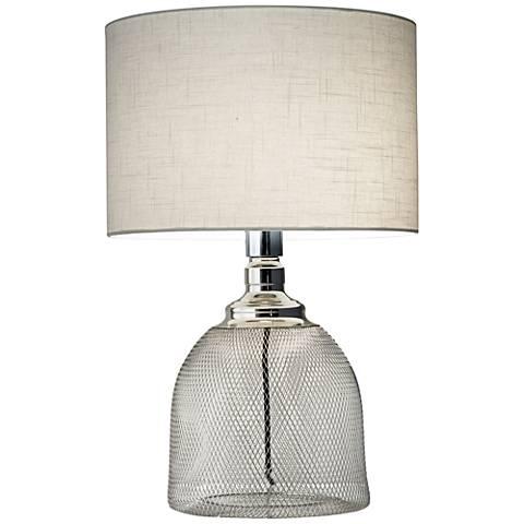 Sparrow Shiny Chrome Metal Tall Table Lamp