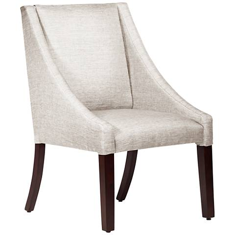Villager Groupie Oyster Fabric Swoop Dining Chair