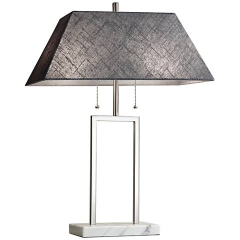 Chambers Brushed Steel Table Lamp
