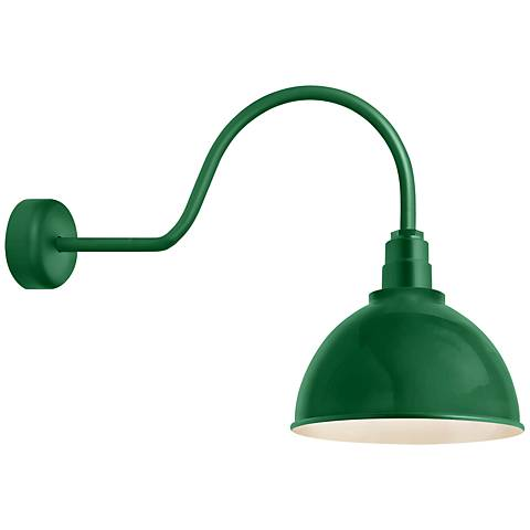 "RLM Deep Reflector 24"" High Hunter Green Outdoor Wall Light"