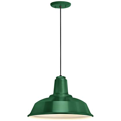 "RLM Heavy Duty  8 1/4""H Hunter Green Outdoor Hanging Light"