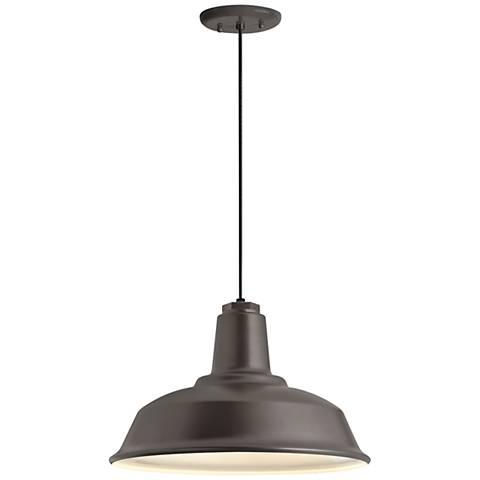 "RLM Heavy Duty 8 1/4""H Textured Bronze Outdoor Hanging Light"