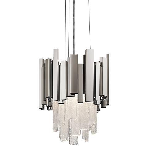 """Elan Skyline 11 3/4"""" Wide Polished Nickel LED Mini Pendant"""
