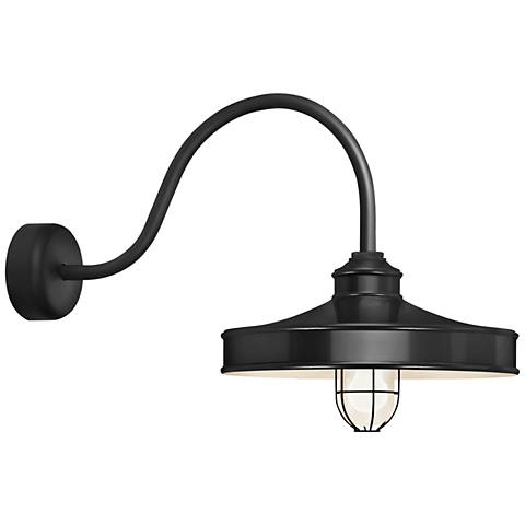 "RLM Nostalgia 18"" High Outdoor Wall Light in Black"