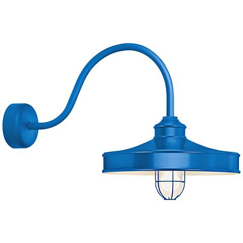 "RLM Nostalgia 18"" High Outdoor Wall Light in Blue"