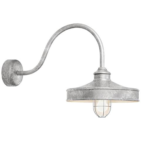 "RLM Nostalgia 18"" High Outdoor Wall Light in Galvanized"