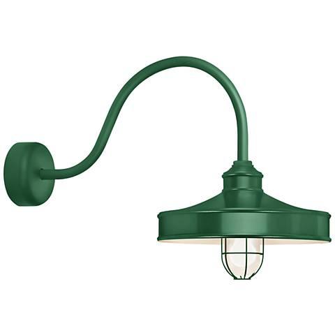 "RLM Nostalgia 18"" High Hunter Green Outdoor Wall Light"