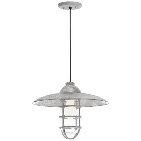 "RLM Retro Industrial 9 3/4""H Outdoor Hanging Light"