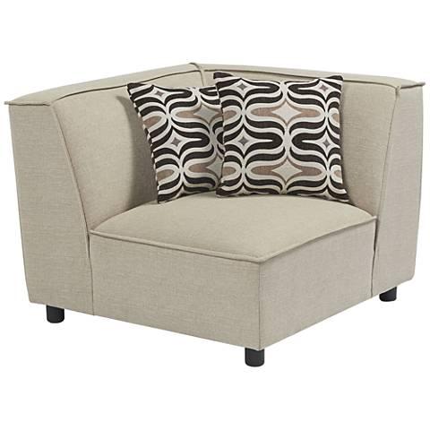 Brooklyn Soho Natural Modular Corner Chair