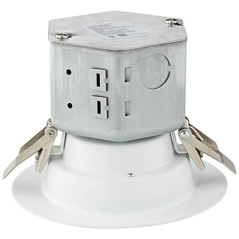 "Can or Housing Free 4"" White 10 Watt LED Retrofit Trim"