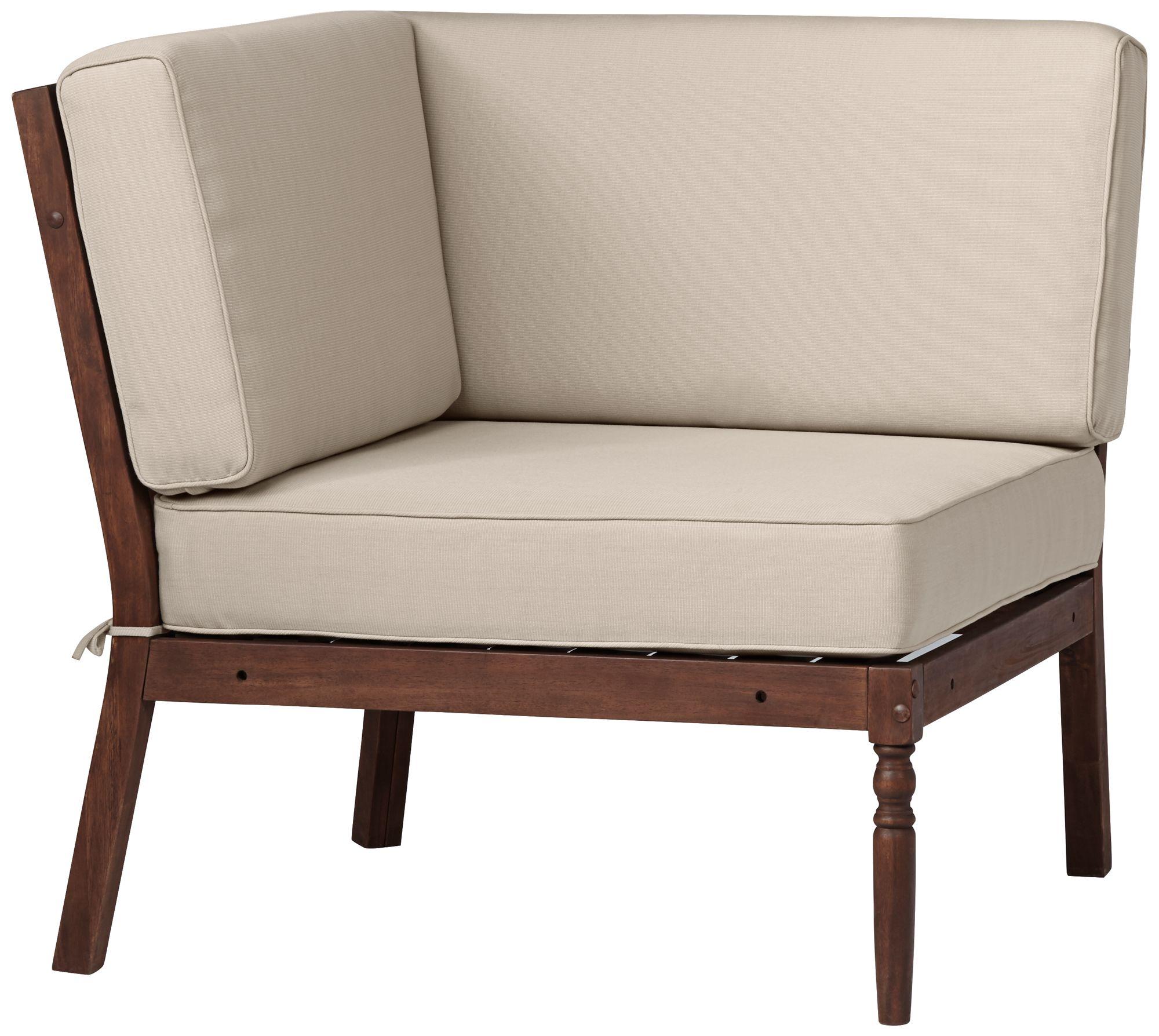 Napa Modular Natural Dark Oil Acacia Corner Chair - #V  Lamps