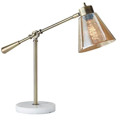 Sienna Antique Brass Adjustable Desk Lamp