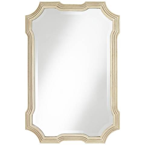 """Halima Natural 27"""" x 40 1/4"""" Beveled Wall Mirror"""