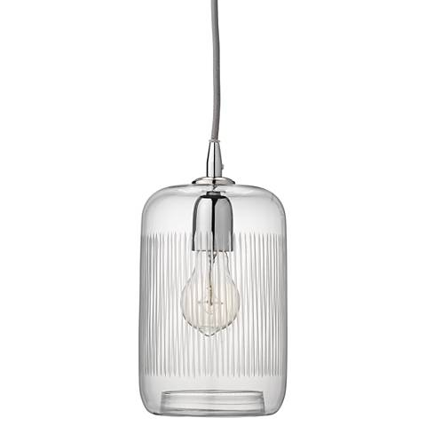 """Silhouette 6"""" Wide Clear Glass with Nickel Mini Pendant"""