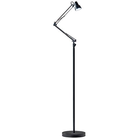 Quest Black Adjustable LED Floor Lamp