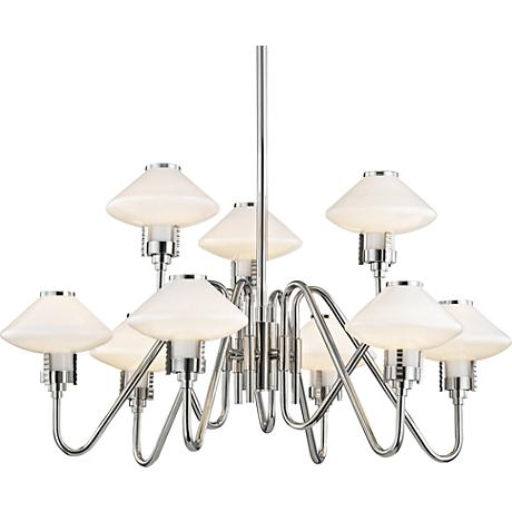 "Hudson Valley Knowles 29 3/4"" Wide Nickel LED Chandelier"