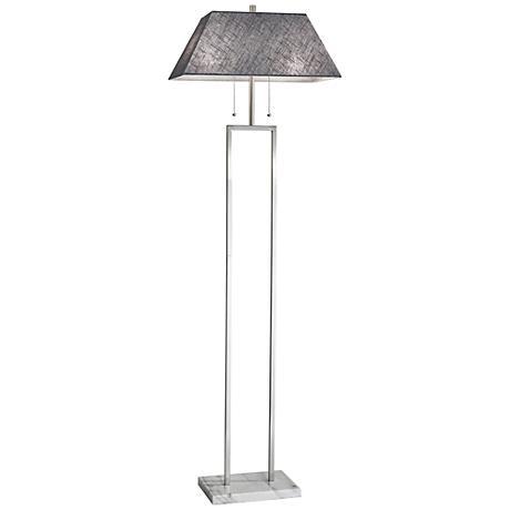 Chambers Brushed Steel Floor Lamp
