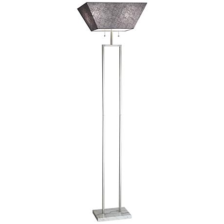 Chambers Brushed Steel Torchiere Floor Lamp