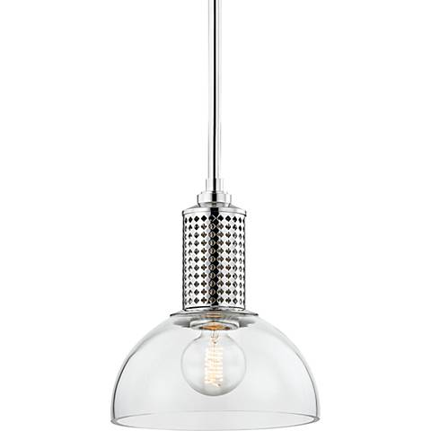 "Hudson Valley Halcyon 10""Wide Polished Nickel Mini Pendant"