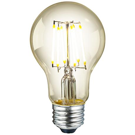 Amber 6 Watt Dimmable A19 LED Filament Light Bulb