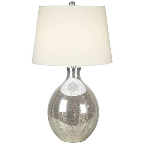 Metallic Dawn Antique Mercury Glass Table Lamp