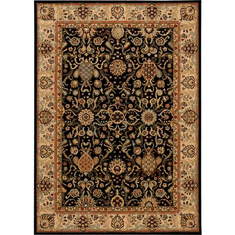 Kathy Ireland Lumiere KI602 Onyx Wool Area Rug
