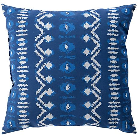 "Surya Cora Blue and White 18"" Square Decorative Pillow"