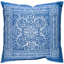 "Surya Robyn Blue-White 18"" Square Indoor-Outdoor Pillow"