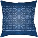 "Surya Allyson Blue 18"" Square Decorative Pillow"