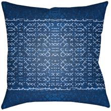 "Surya Allyson Blue 18"" Square Indoor-Outdoor Pillow"