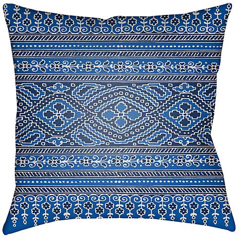 "Surya Britney Blue 18"" Square Indoor-Outdoor Pillow"