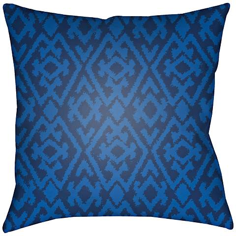 """Surya Isabel Blue 18"""" Square Indoor-Outdoor Pillow"""