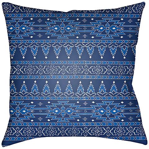 """Surya Piper Blue 18"""" Square Indoor-Outdoor Pillow"""