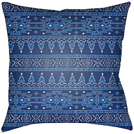 "Surya Piper Blue 18"" Square Decorative Pillow"